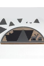 unoferrum - SILHOUETTE SILHOUETTE Krippe L I nussbaum I unoferrum I Holz + Stahl