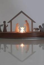 unoferrum - SILHOUETTE SILHOUETTE Weihnachtskrippe M I nussbaum I unoferrum