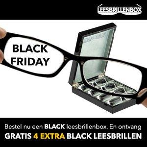 BLACK FRIDAY ACTIE:  VIER GRATIS EXTRA BLACK LEESBRILLEN BIJ UW BLACK LEESBRILLENBOX!