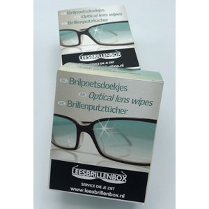 Hygienic glasses cleaning cloths