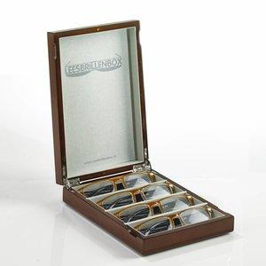 Lesebrillenbox in Hochglanz Braun