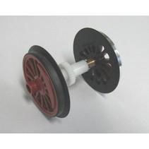Speichenradsatz mit Haftreifen und Zahnrad für V60 / BR 260