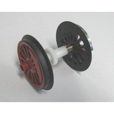 PIKO Speichenradsatz mit Haftreifen und Zahnrad für V60 / BR 260