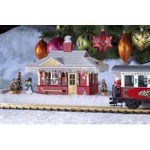 Weihnachts-Bahnhof