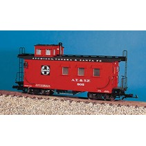 Woodsided Caboose Santa Fe