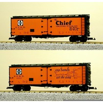 """40 ft. Refrigerator Car Santa Fe """"The Chief"""" with Map"""