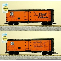 "40 ft. Refrigerator Car Santa Fe ""The Super Chief"" with Map"