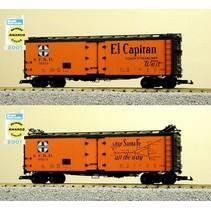"""40 ft. Refrigerator Car Santa Fe """"El Capitan"""" with Map"""