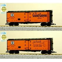 "40 ft. Refrigerator Car Santa Fe ""Grand Canyon"" with Map"
