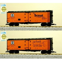 """40 ft. Refrigerator Car Santa Fe """"Scout"""" with Map"""