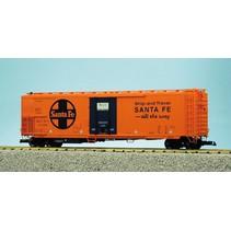 """50 ft. Mech. Refrigerator Car Santa Fe """"Ship and Travel"""""""