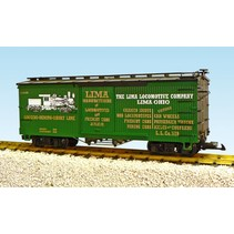 Wood Box Car Lima Locomotive Co./Heisler