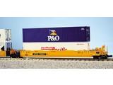 USA TRAINS Intermodal Containerwagen 5er Einheit TTX (ohne Container)