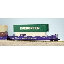 Intermodal Containerwagen 5er Einheit CSX (ohne Container)