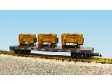 USA TRAINS Generator Flat Car New York Central beladen mit 3 Motoren