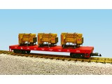 USA TRAINS Generator Flat Car Jersey Central beladen mit 3 Motoren