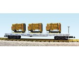 USA TRAINS Generator Flat Car Norfolk Southern beladen mit 3 Motoren