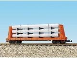 USA TRAINS Pipe Load Flat Car Rio Grande beladen mit Rohren
