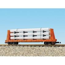 Pipe Load Flat Car Rio Grande beladen mit Rohren