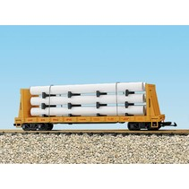 Pipe Load Flat Car Union Pacific beladen mit Rohren