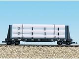 USA TRAINS Pipe Load Flat Car Pennsylvania beladen mit Rohren