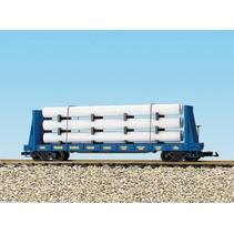Pipe Load Flat Car CSX Transportation beladen mit Rohren