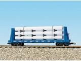 USA TRAINS Pipe Load Flat Car Conrail beladen mit Rohren