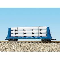 Pipe Load Flat Car Conrail beladen mit Rohren