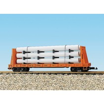 Pipe Load Flat Car Illinois Central beladen mit Rohren