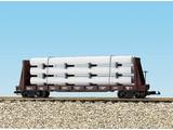 USA TRAINS Pipe Load Flat Car Burlington beladen mit Rohren