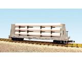 USA TRAINS Pipe Load Flat Car Norfolk Southern beladen mit Rohren