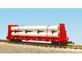USA TRAINS Pipe Load Flat Car Jersey Central beladen mit Rohren