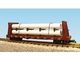 USA TRAINS Pipe Load Flat Car Great Northern beladen mit Rohren