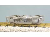 USA TRAINS Die-Cast Passenger Car Truck mit Metal Wheels silber