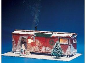 USA TRAINS fertige liebevolle Christmas Szene
