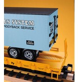 USA TRAINS Piggyback Flatcar Bear Country Beer mit Trailer