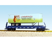 Piggyback Flatcar Bear Country Beer mit Trailer