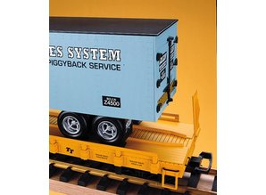 USA TRAINS Piggyback Flatcar Union Pacific mit Trailer