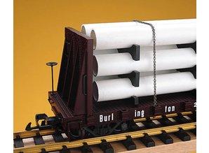 USA TRAINS Pipe Load Flat Car Norfolk Western beladen mit Rohren