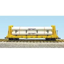 Pipe Load Flat Car Trailer Train beladen mit Rohren