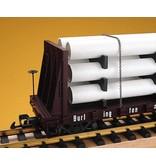 USA TRAINS Pipe Load Flat Car Trailer Train beladen mit Rohren
