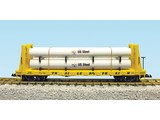 USA TRAINS Pipe Load Flat Car Trailer Train beladen mit Rohren