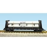 USA TRAINS Pipe Load Flat Car Bethlehem Steel beladen mit Rohren