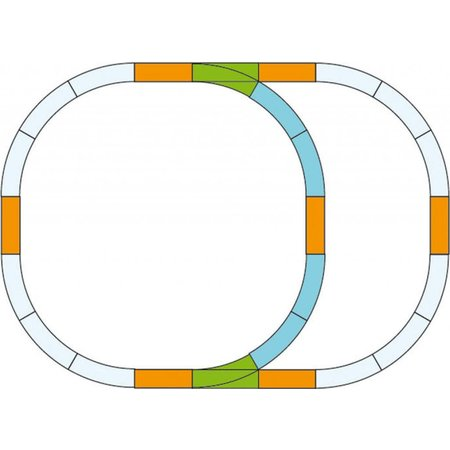 PIKO G-Gleis Ergänzungs-Set Überholgleis