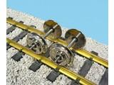 USA TRAINS Metallachsen verchromt (2 Stück)