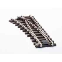 Elektro/DCC-weiche R 90cm links (R2 Weiche) vernickelt