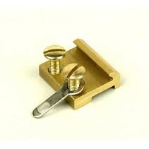 Schraubschienenverbinder 15mm Messing (100 Stk)