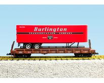 Piggyback Flatcar Burlington Route mit Trailer