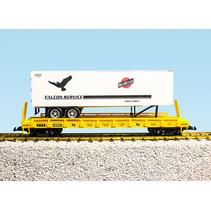 Piggyback Flatcar C&NW Falcon Service mit Trailer