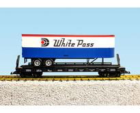 Piggyback Flatcar White Pass mit Trailer
